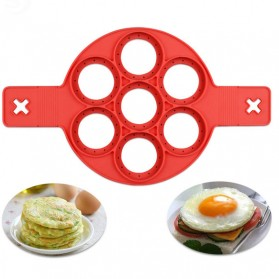 Cetakan Pancake Maker 7 Hole - JSC2558 - Red