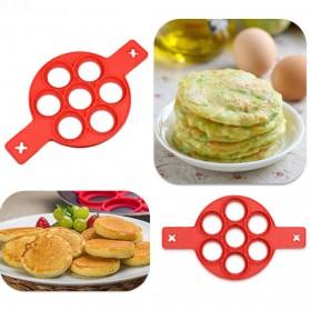 Cetakan Pancake Maker 7 Hole - JSC2558 - Red - 2