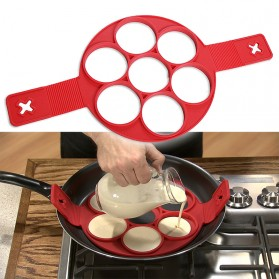 Cetakan Pancake Maker 7 Hole - JSC2558 - Red - 4