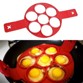 Cetakan Pancake Maker 7 Hole - JSC2558 - Red - 7