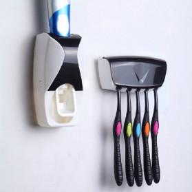 Dispenser Odol dengan Holder Sikat Gigi - Black