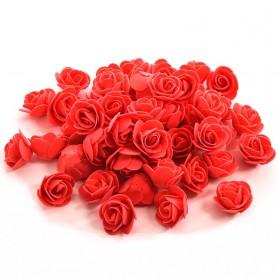 Dekorasi Rumah Lainnya - Bunga Rose Hias Sterofoam - 50PCS - Red
