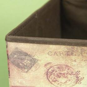 Monokweepjy Bangku Kotak Penyimpanan Barang Model Vintage - 30x30x30cm -CITVP10513 - Red - 7