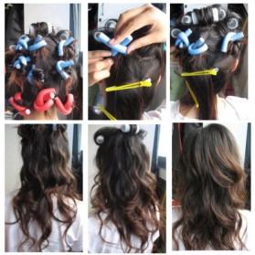 Ikat Rambut Pengeriting Fleksibel 10PCS - Multi-Color