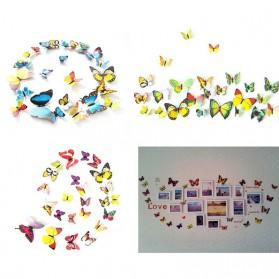 Stiker Dinding Kupu-Kupu Motif Abstrak 12 PCS - Pink - 2
