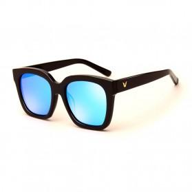 Kacamata Pria Korean V Style Polarized Sunglasses - Black/Blue