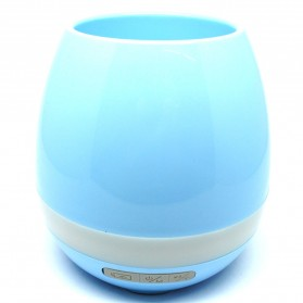 Flower Pot Vas Bunga dengan Speaker Bluetooth - Blue