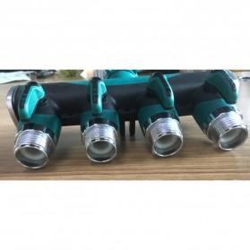 Yintaizai Splitter Selang Keran Air 3/4 Irigasi Taman Cabang 4 - D105 - Black/Green - 3