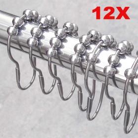 Gantungan Gorden Unik Bahan Logam 12PCS - Silver