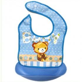 Celemek Bayi Anti Kotor Waterproof - Blue