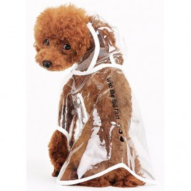 Hooper Jas Hujan Anjing Imut - Size M - Green - 5