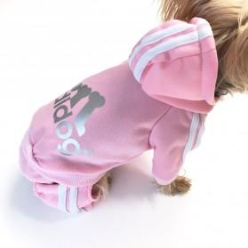 Adidog Baju Jaket Hoodie Anjing Size XL - Red - 4