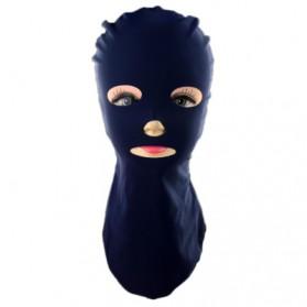 Facekini Topi Topeng Renang Full Face Sun Block - Black