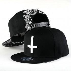 Wuke Topi Snapback Cross - Black