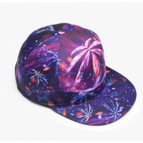 Nuzada Topi Snapback Color Printing - Purple - 5