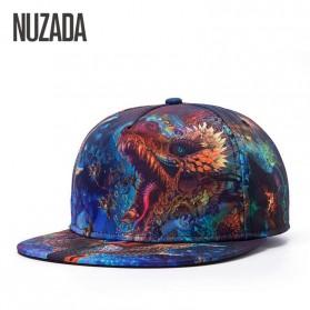Nuzada Topi Snapback Color Printing - Dark Blue