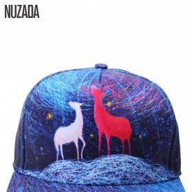 Nuzada Topi Snapback Color Printing - Blue - 2