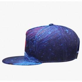 Nuzada Topi Snapback Color Printing - Blue - 3