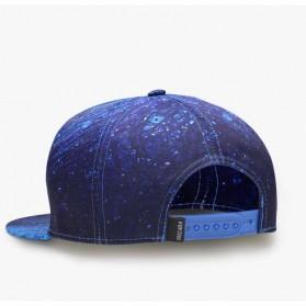 Nuzada Topi Snapback Color Printing - Blue - 4