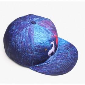 Nuzada Topi Snapback Color Printing - Blue - 5