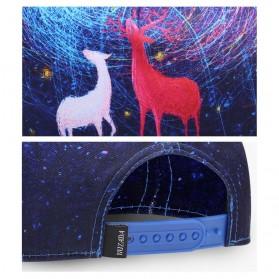 Nuzada Topi Snapback Color Printing - Blue - 6