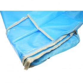 Tas Organizer Penyimpan Selimut Pakaian 58x40x22cm - Blue - 2