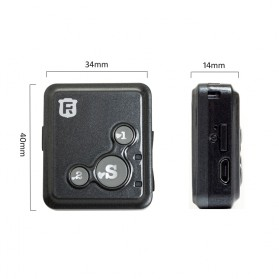 GPS Tracker Mini - V16 - Black - 2