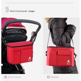 Insular Tas Stroller Fashion Mummy Bag Insulated Thermal - 7233 - Black - 5