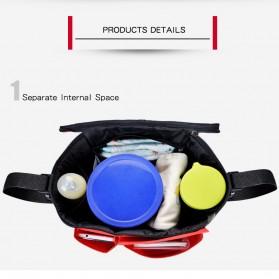 Insular Tas Stroller Fashion Mummy Bag Insulated Thermal - 7233 - Black - 6