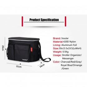 Insular Tas Stroller Fashion Mummy Bag Insulated Thermal - 7233 - Black - 7