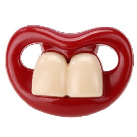 Dot Empeng Bayi Model Mulut - Red