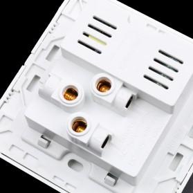 Stop Kontak Universal UK EU US & 2 Port USB Wall Socket - White - 4