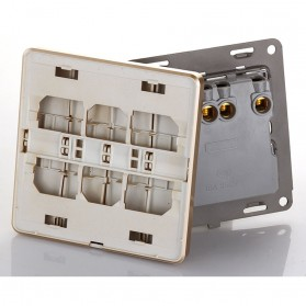 Saklar Lampu 86 Type 4 Switch - SH-RF601 - Golden - 4