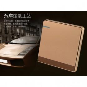 Saklar Lampu 86 Type 1 Switch - SH-RF601 - Golden - 2