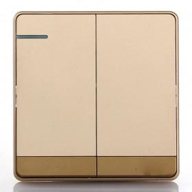 Saklar Lampu 86 Type 2 Switch - Golden
