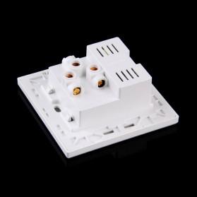 Stop Kontak Universal UK EU US & 2 Port USB - SZ46502 - Golden - 5