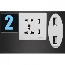 Stop Kontak Universal UK EU US & 2 Port USB 2.1A - 118 - White - 3