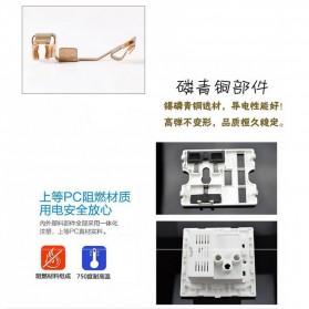 Elegant Stop Kontak Universal UK EU US & 2 Port USB - SZ46505 - Golden - 6