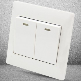 Saklar Lampu 86 Type 2 Switch - YT18 - White