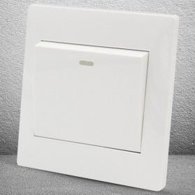 Saklar Lampu 86 Type 1 Switch - YT18 - White