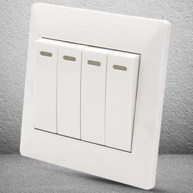 Saklar Lampu 86 Type 4 Switch - YT18 - White