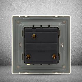 Saklar Lampu 86 Type 3 Switch - YT18 - White - 2