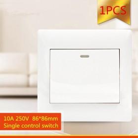 Saklar Lampu 86 Type 3 Switch - YT18 - White - 3
