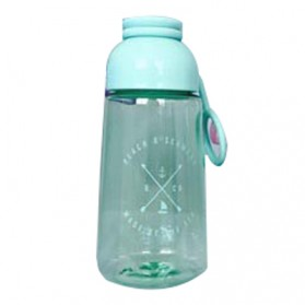 Botol Minum Plastik Lucu - Blue