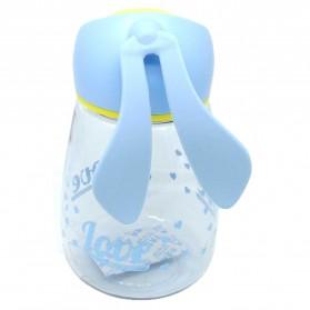 Botol Minum Plastik Lucu Model Kelinci - Blue - 2