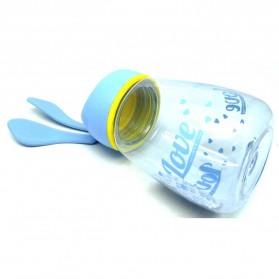 Botol Minum Plastik Lucu Model Kelinci - Blue - 3