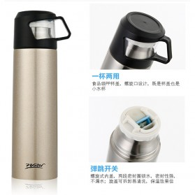 Warhead Botol Thermos Cup Head Vacuum Thermos Cup 500ml - H-60 - Black - 2