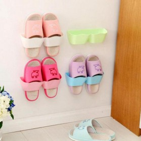 Holder Rak Sandal Hook Hanging Organizer - Pink