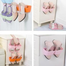 Holder Rak Sandal Hook Hanging Organizer - Pink - 4