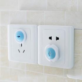 Safety Socket Plug Listrik EU Lock Style 6 PCS - White/Blue - 2